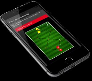 voetbalapp op iphone